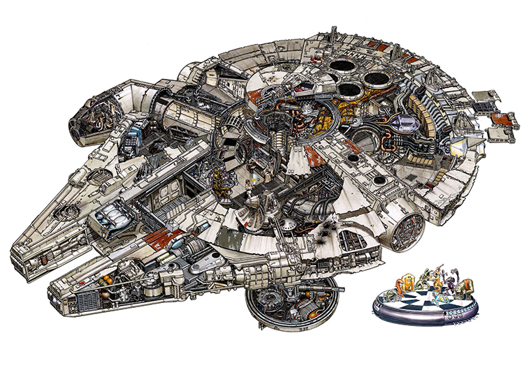 Incredibly Detailed Illustrations of Star Wars Vehicles