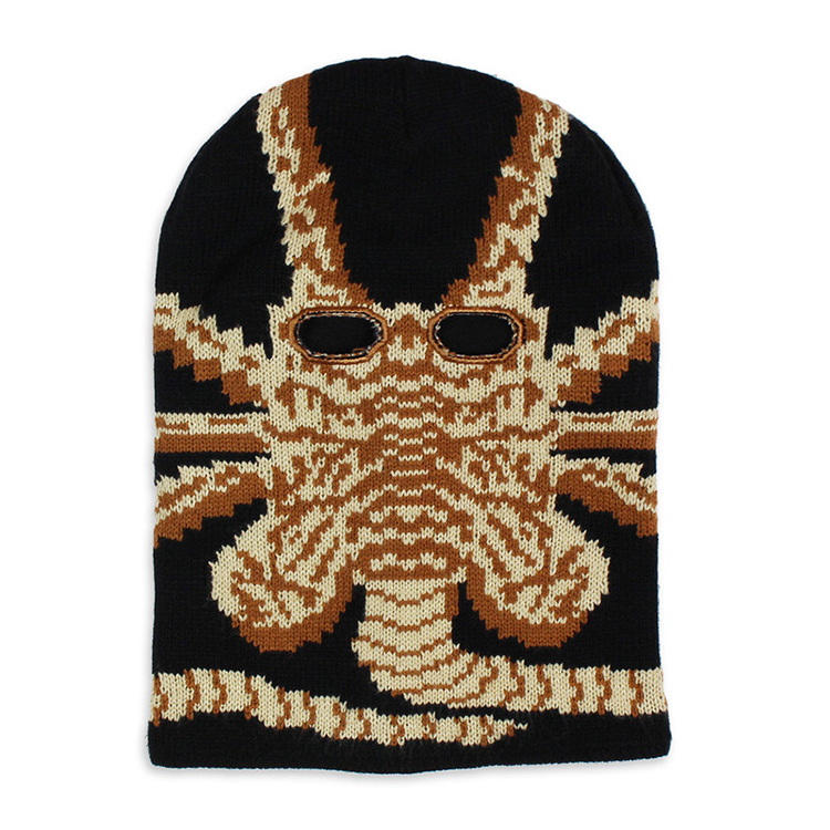 An Alien Facehugger Ski Mask