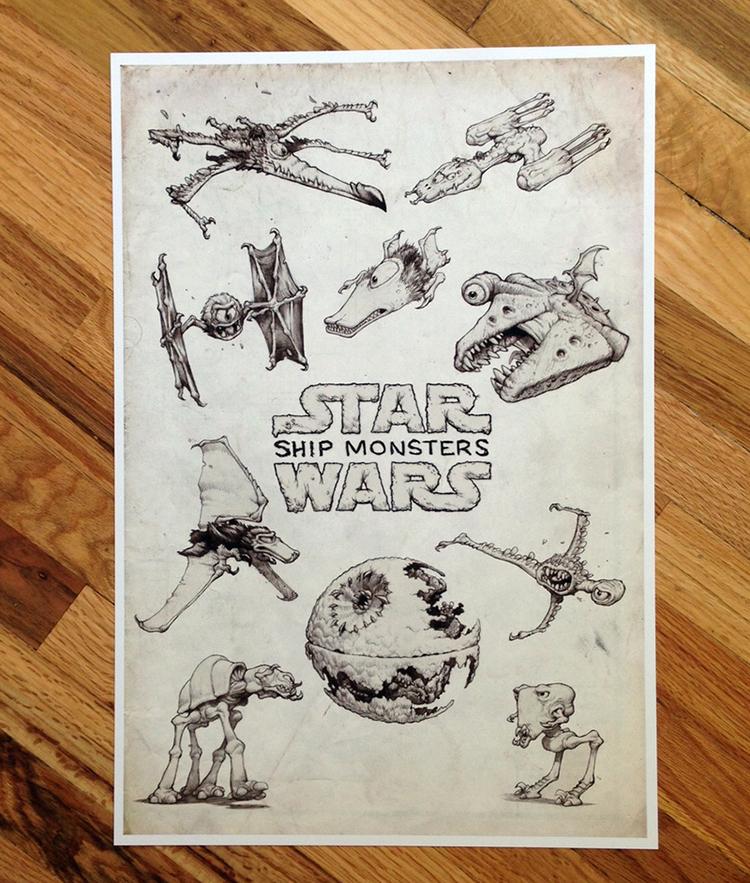 Star Wars Ship Monsters