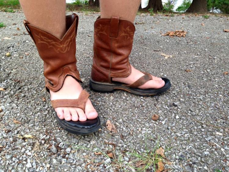 Redneck Boot Sandals, A Handy Service That Turns Worn Out Cowboy ...