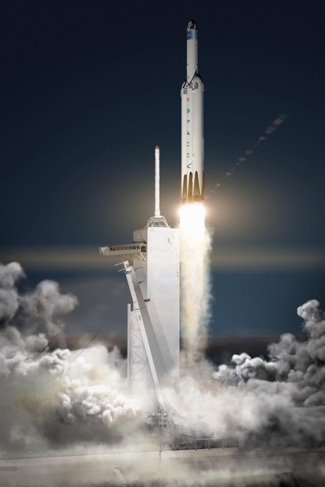 Space X Falcon Heavy Launch