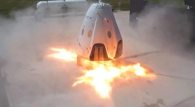 SpaceX Dragon Capsule Landing