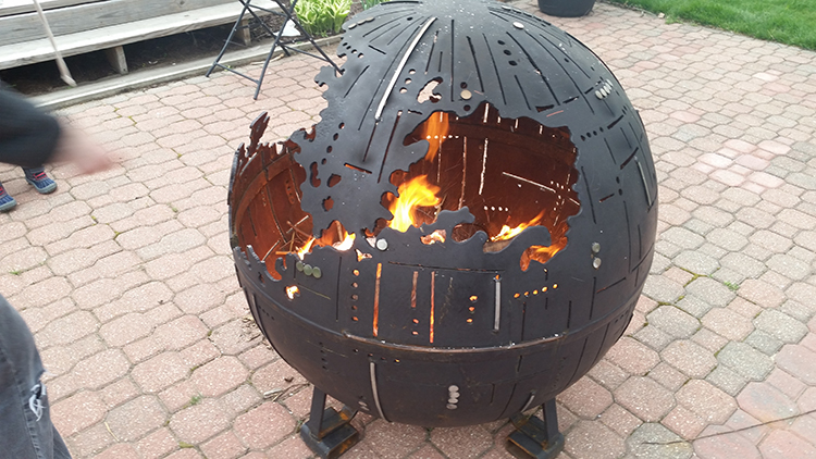 Delightful Star Wars Death Star Fire Pit Part - 14: Laughing Squid