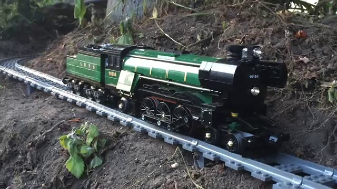 Man Attaches GoPro Camera to LEGO Train and Records Its Journey Through the House & Garden