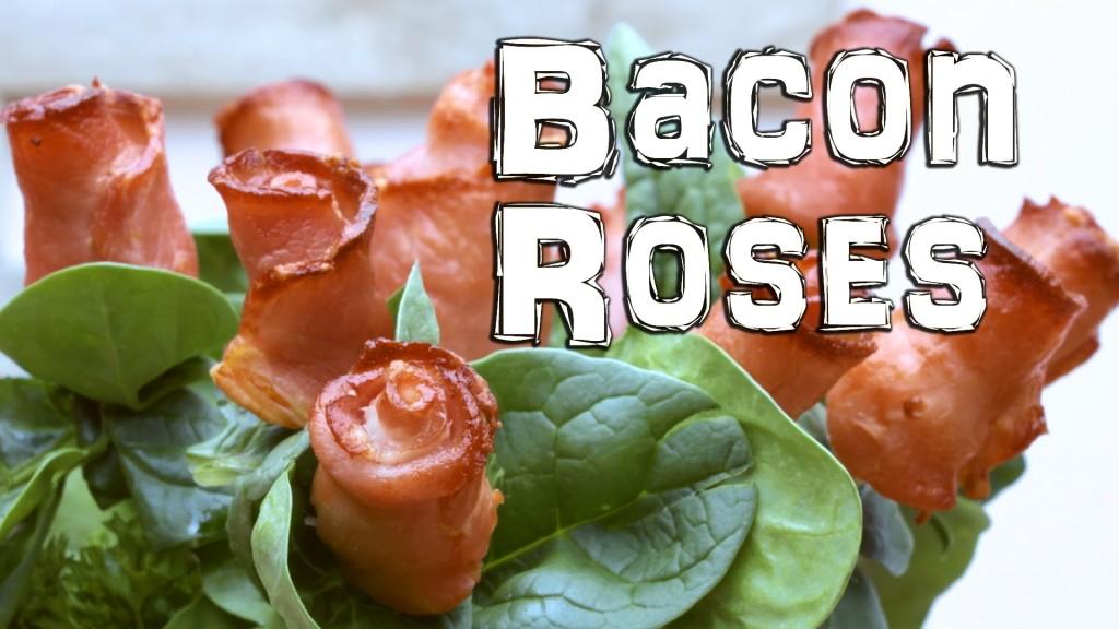 How to Make Edible Roses Out of Bacon