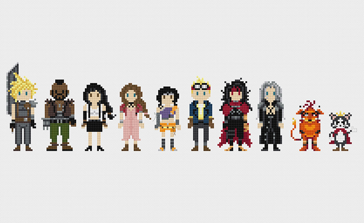 Pixels In Stitches Pixelated Versions Of Pop Culture
