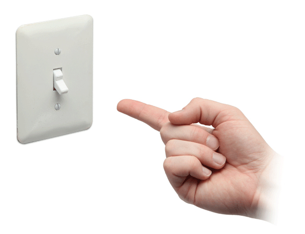A Useless Light Switch That Turns Itself Off After You Flick The Switch On