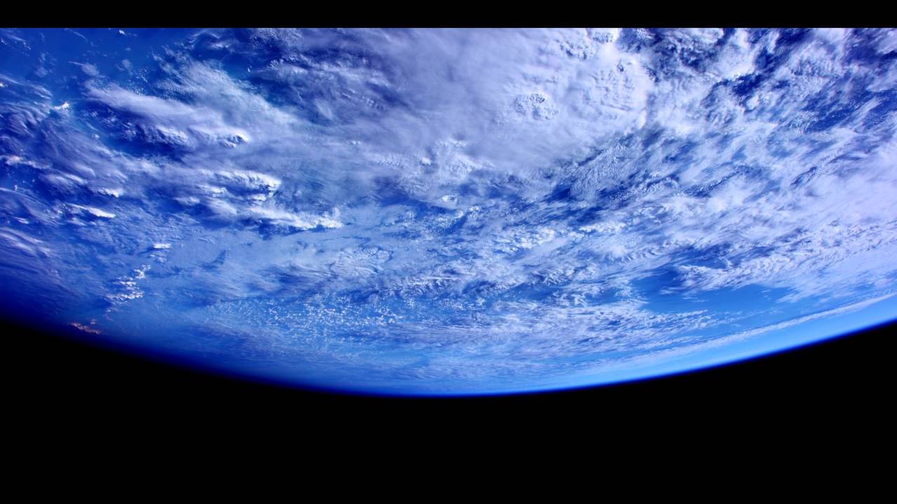 a brilliant 4k ultra view of the earth seen from the space station