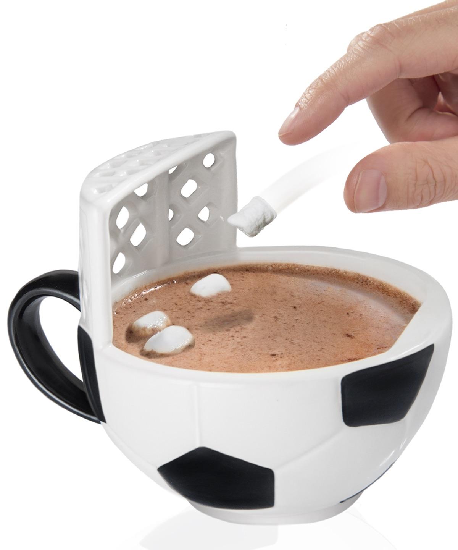 Mug with a Soccer Goal
