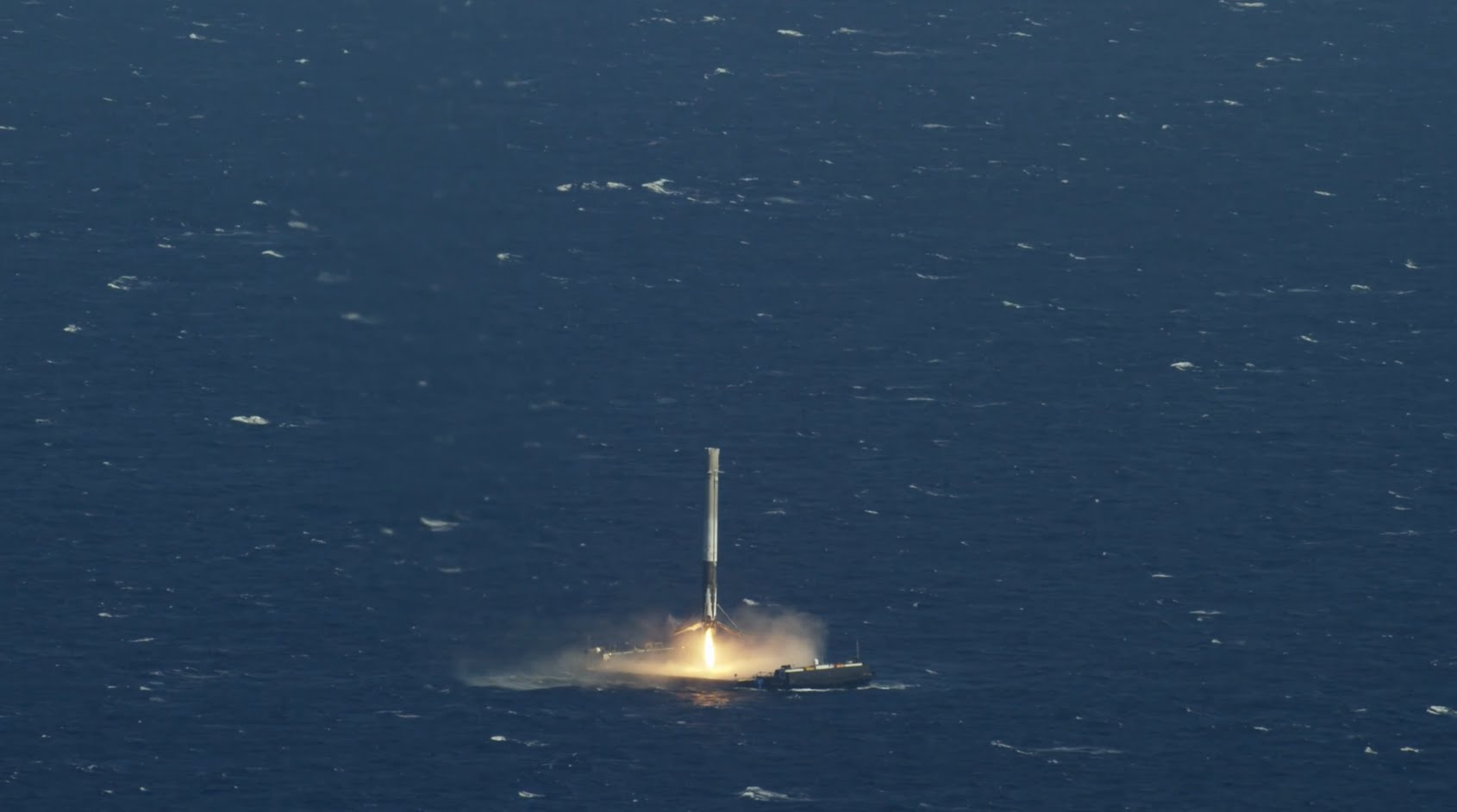 SpaceX Falcon 9 Rocket Makes Historic Landing on a Drone ...