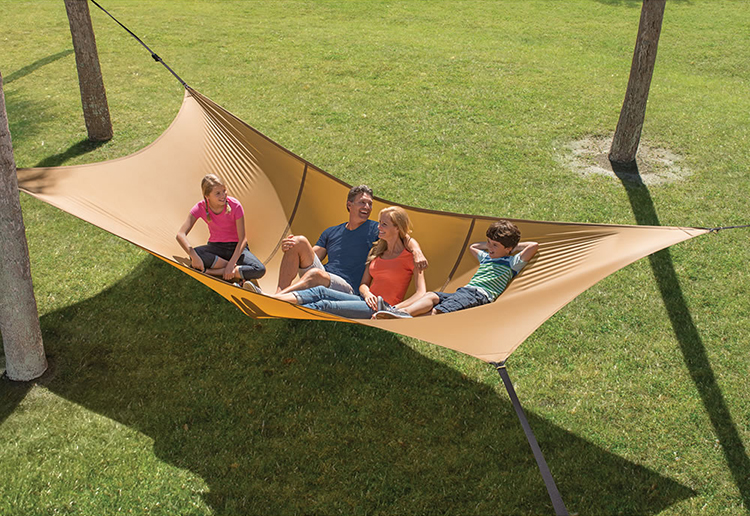 the bunyanesque hammock a giant suspended bed that supports up to pounds