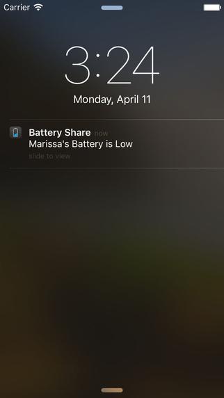Battery Share Alert