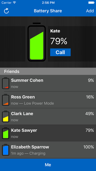 Battery Share Friend Levels
