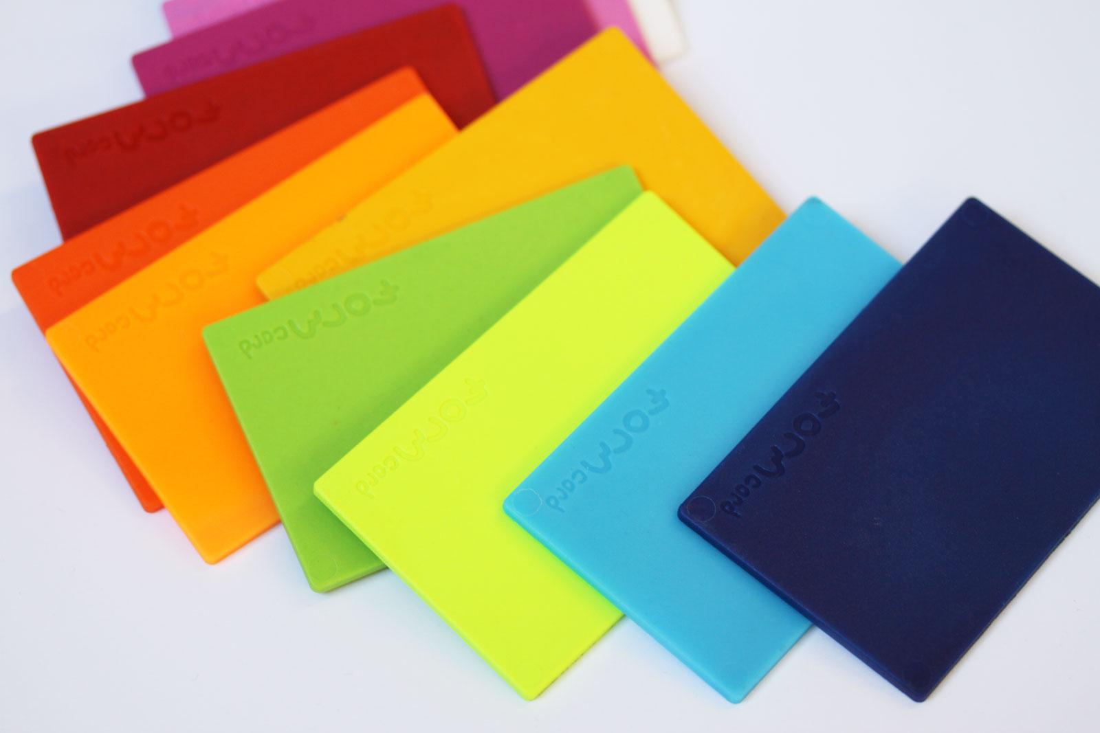 FORMcard pack of 3 Pocketsize  Mouldable Bio-Plastic Random Colors