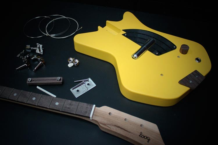 Loog Yellow Guitar Disassembled
