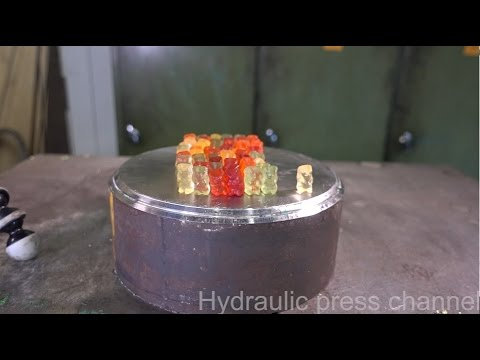 Crushing Gummy Bears With a Hydraulic Press