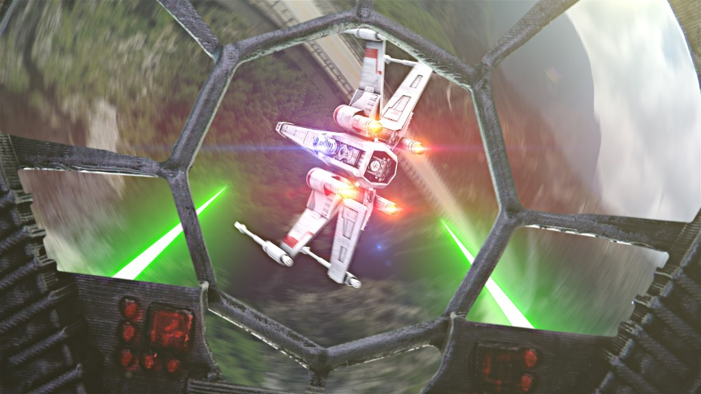 Drone Star Wars, A Short Film Where R2-D2 Sneaks Into an X-wing and Battles TIE Fighters in the Sky