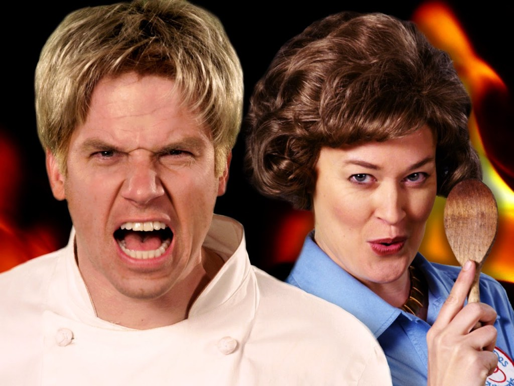 Gordon Ramsay and Julia Child Face Off in Epic Rap Battles of History