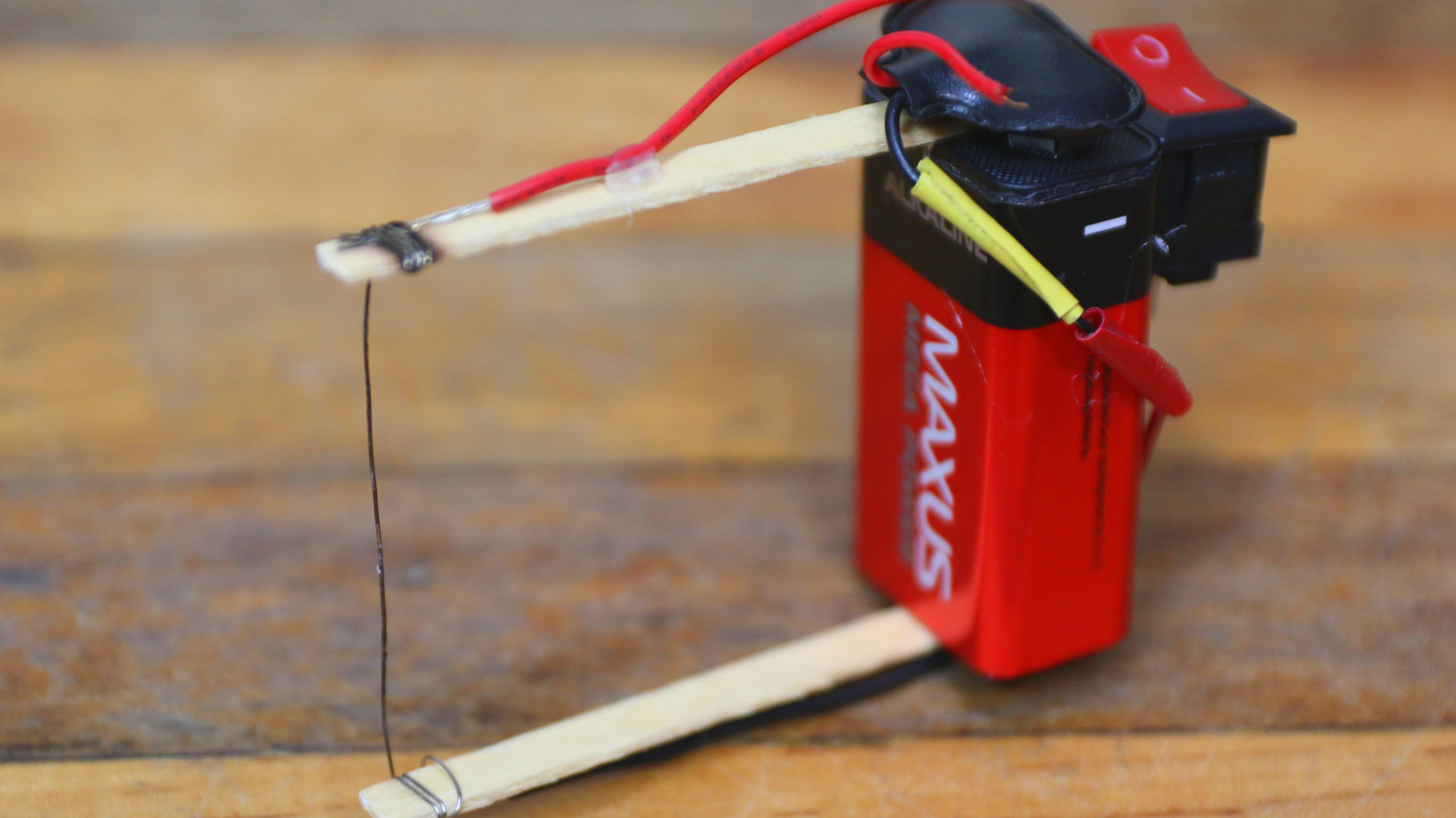 How To Build A Simple Diy Plastic Foam Cutter Using Nine Volt Battery And Some Wire