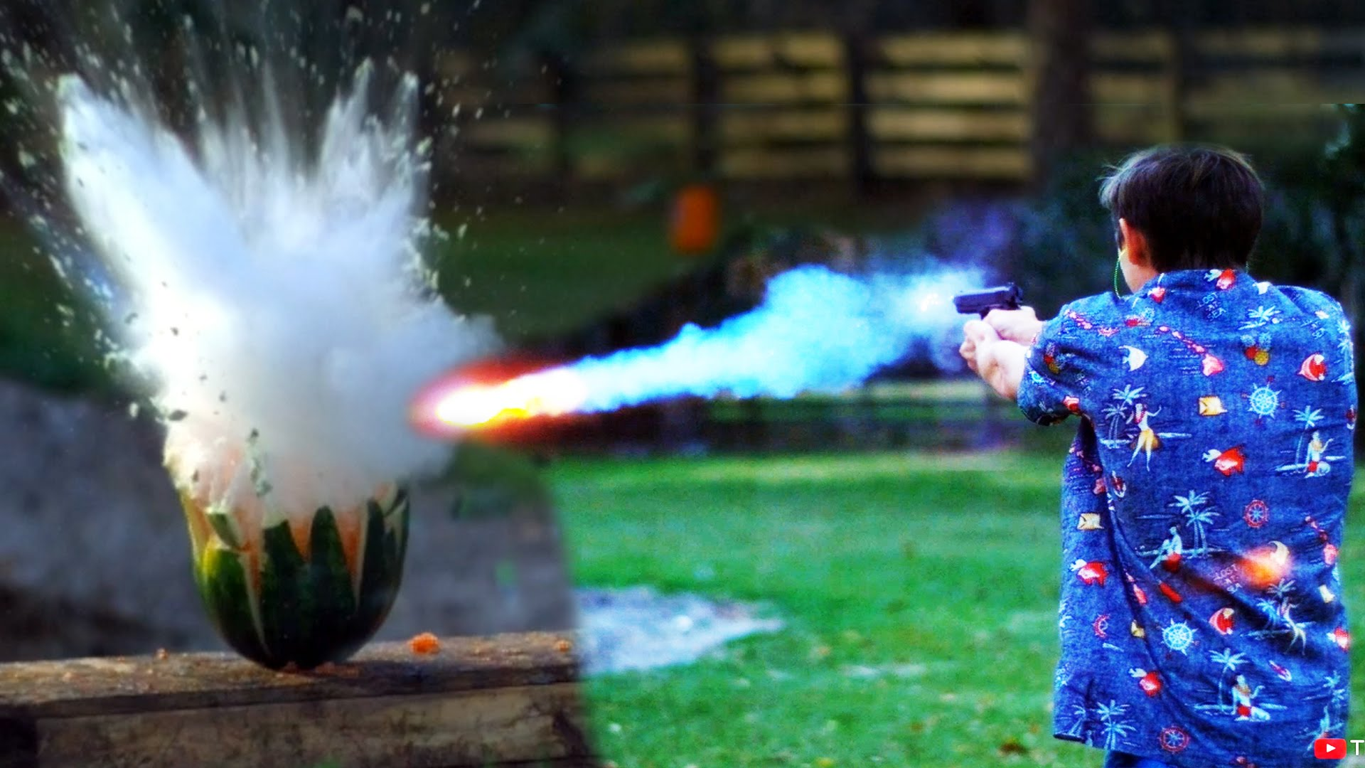 The Backyard Scientist Fires Liquid Sodium Filled Bullets