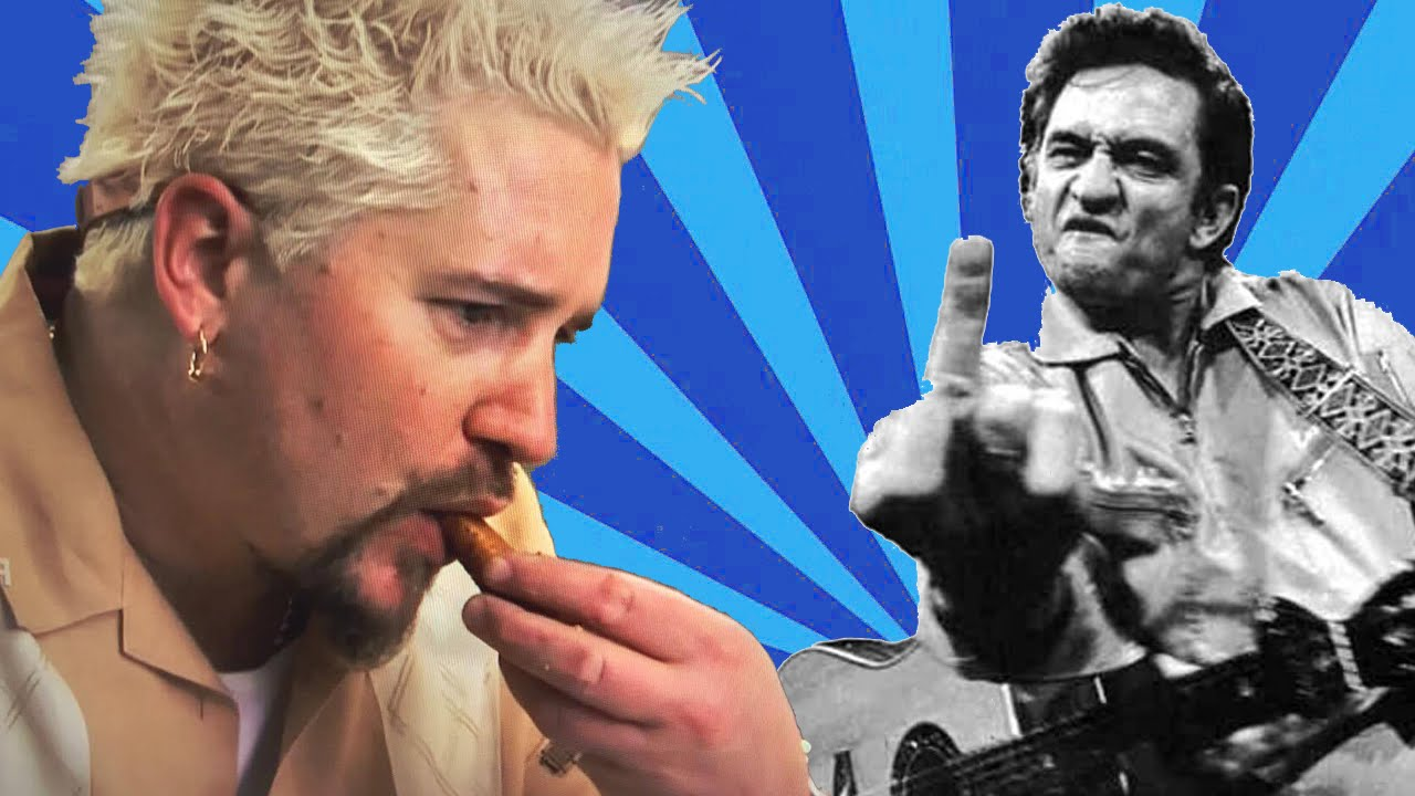 A Moving Compilation of Guy Fieri Eating Set to Johnny Cash\'s Cover ...