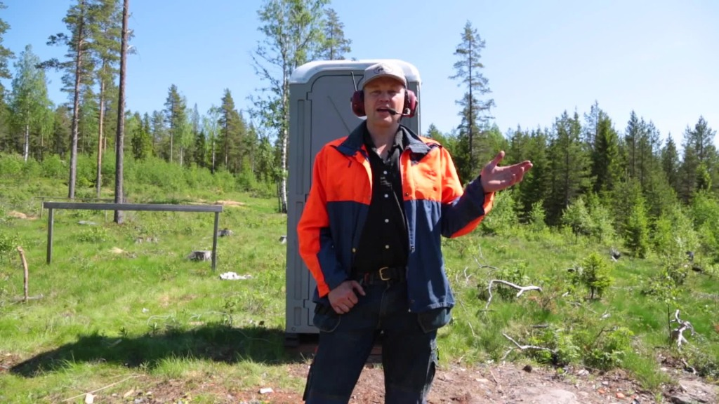 Swedish Portable Toilet : A portable toilet blown up with swedish dynamite