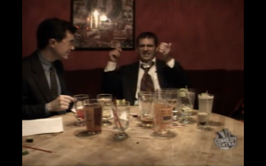 Colbert and Carell Drinking on The Daily Show