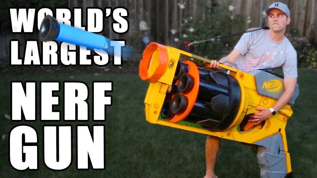 Engineers Build a Giant Functional Nerf Gun That Can Fire Projectiles Up to 130 Yards