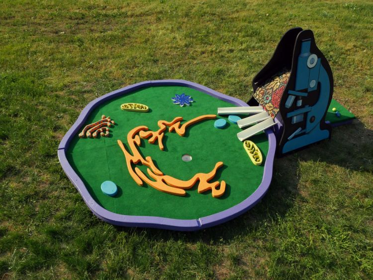 Human Cell Mini Golf Course Finished