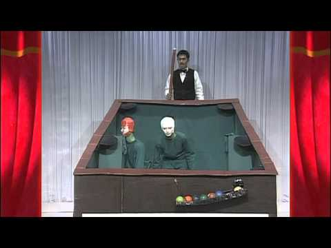 Japanese TV Show Contestants Dress as Billiard Balls and Act Out a Perfect Pool Break Shot