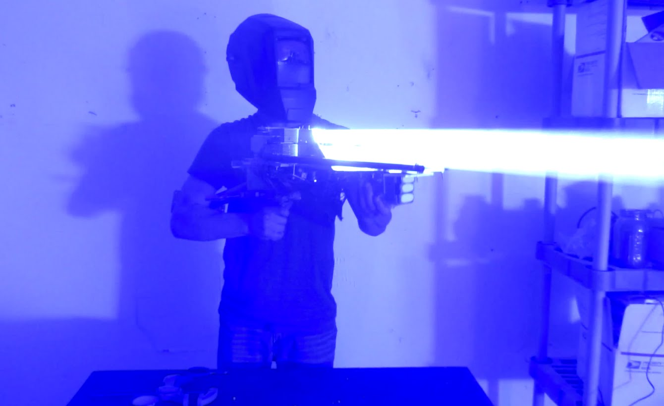 Mad Scientist Builds a 200-Watt Laser Bazooka That Can Shoot Through a Computer Case