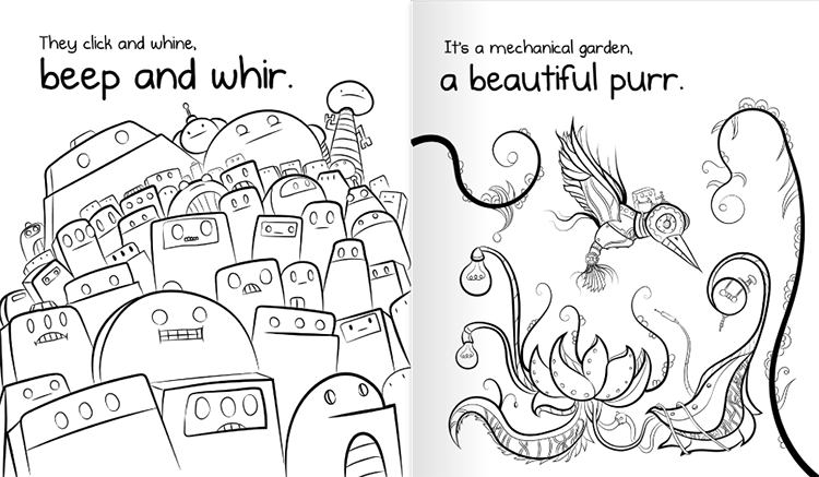 404 Not Found A Weird Kid Friendly Coloring Book About A Missing
