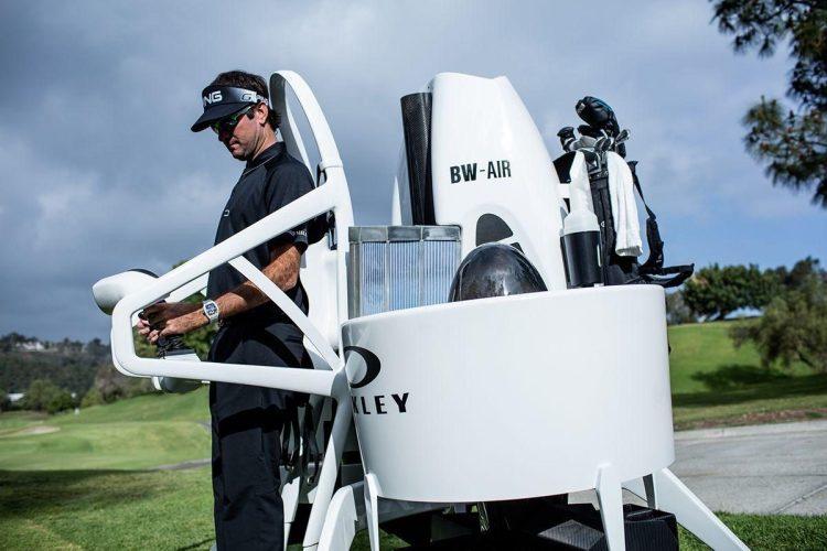 Bubba Watson in Jetpack Cart