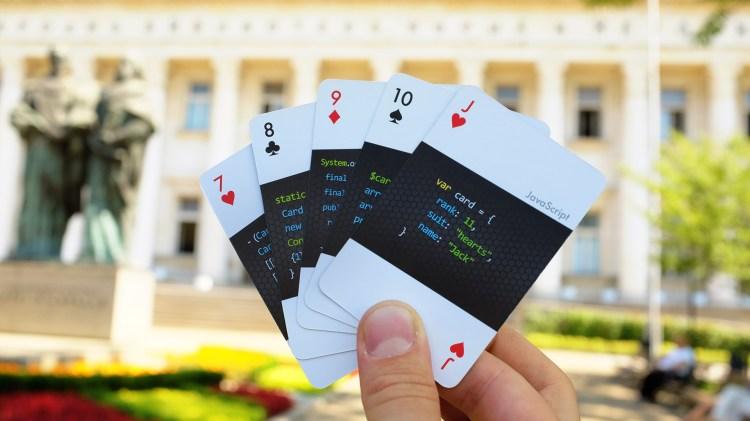 code deck fanned