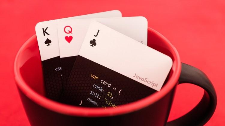 code deck in mug