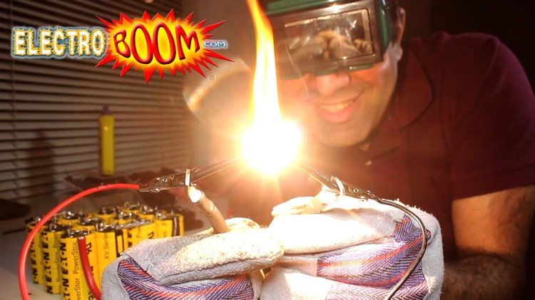 Engineer Mehdi Sadaghhdar Demonstrates the Properties of Graphite and Sets Himself on Fire