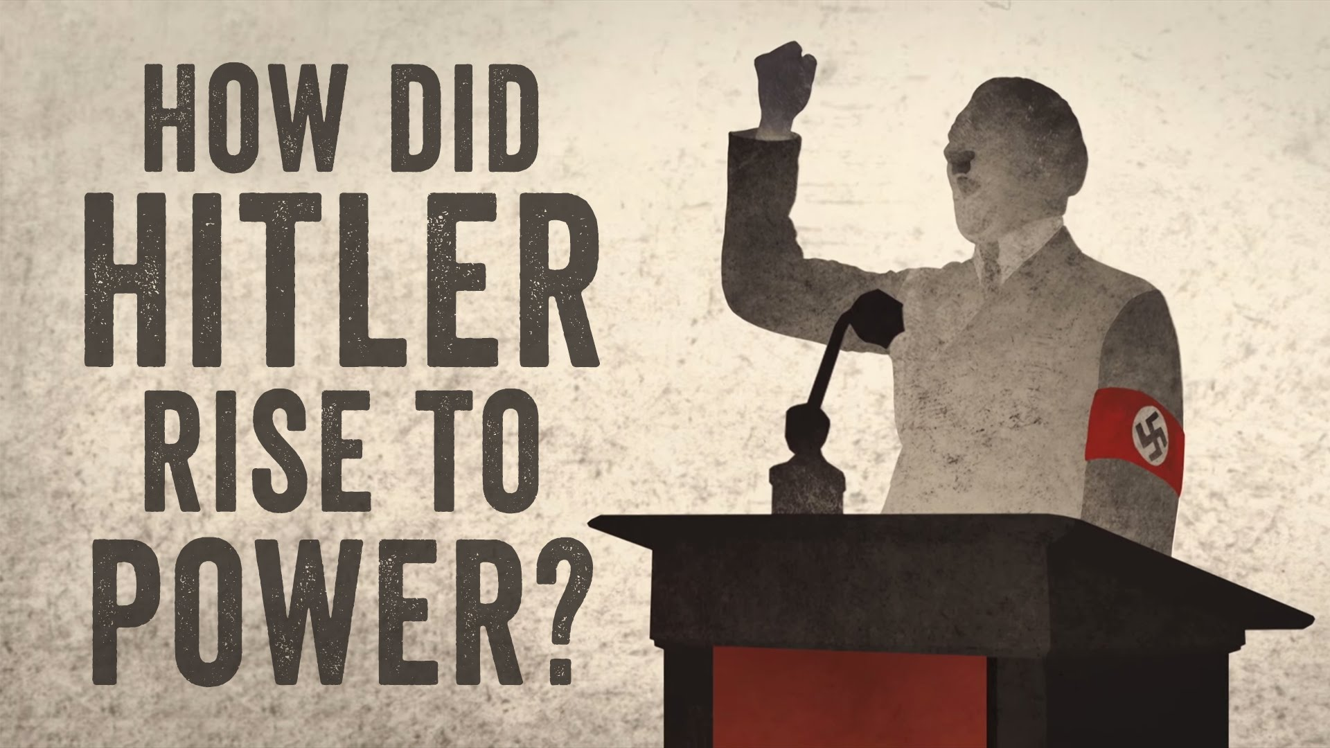 Hitler rose to power because of