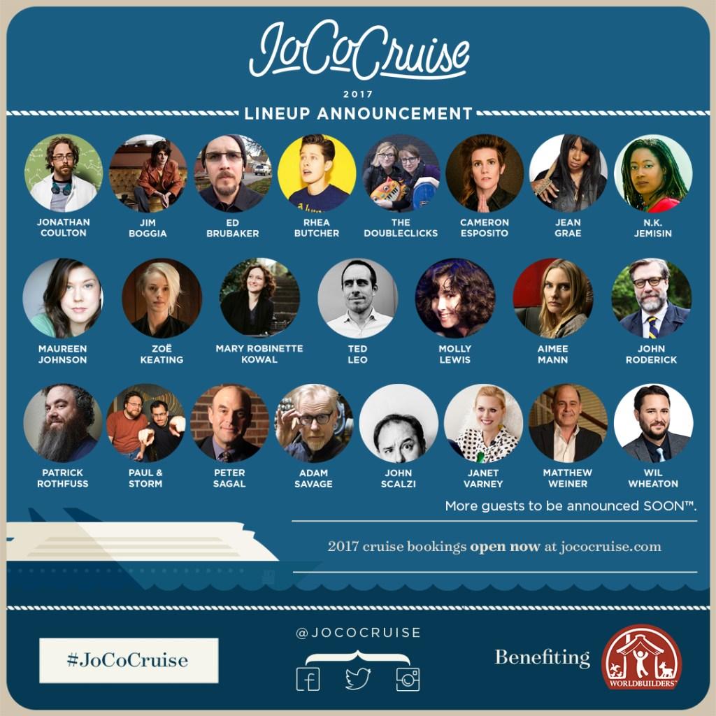 JoCo Cruise 2017 Announcement