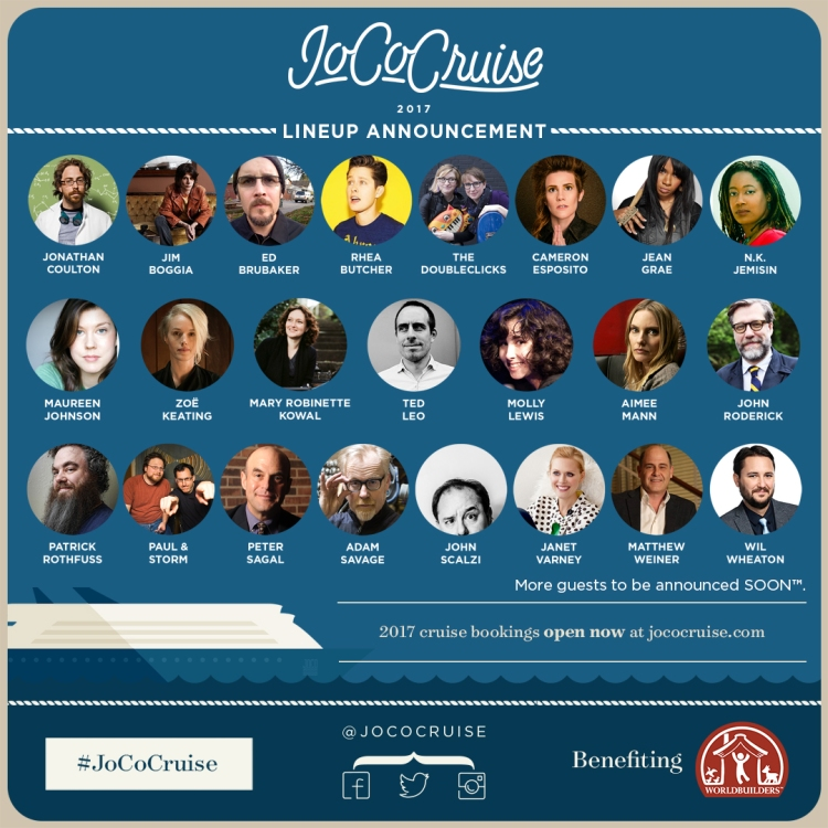 JoCo Cruise 2017 Announcement