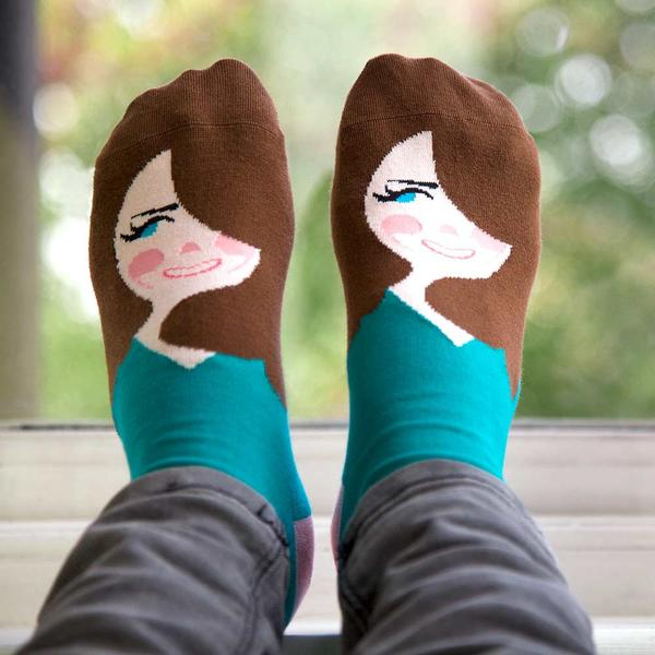 ChattyFeet, Fun Illustrated Socks With Witty Names That