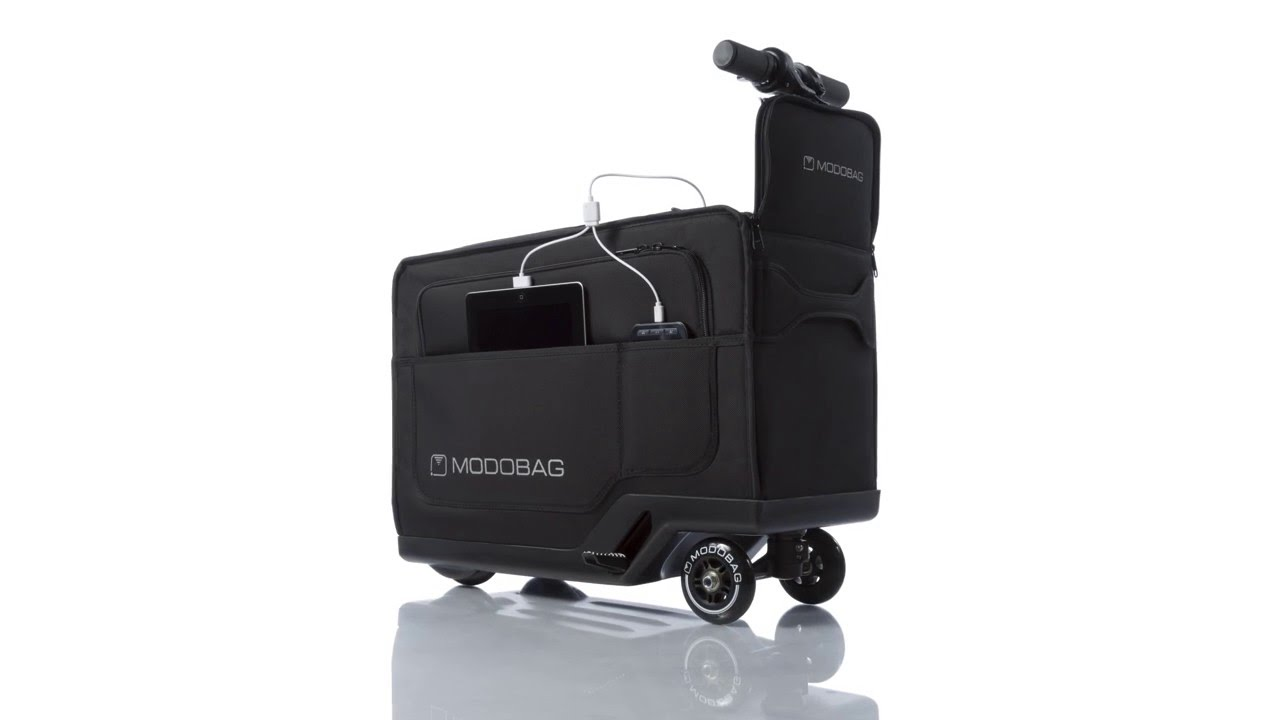 Electric Scooter With Seat >> Motorized Smart Carry-On Luggage That Easily Converts Into ...