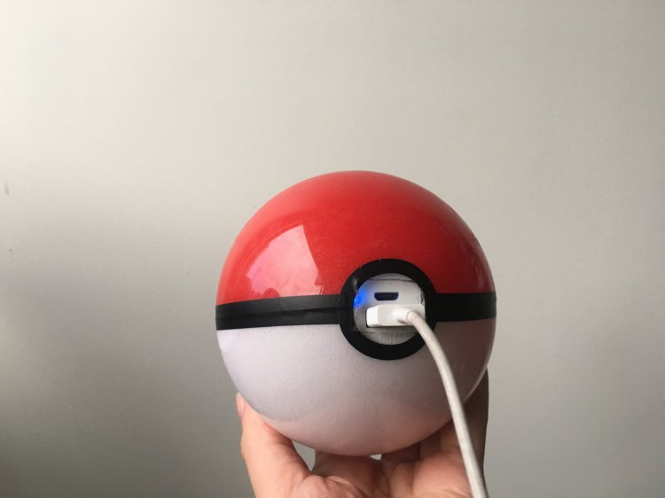 Pokeball Backup Battery in Hand