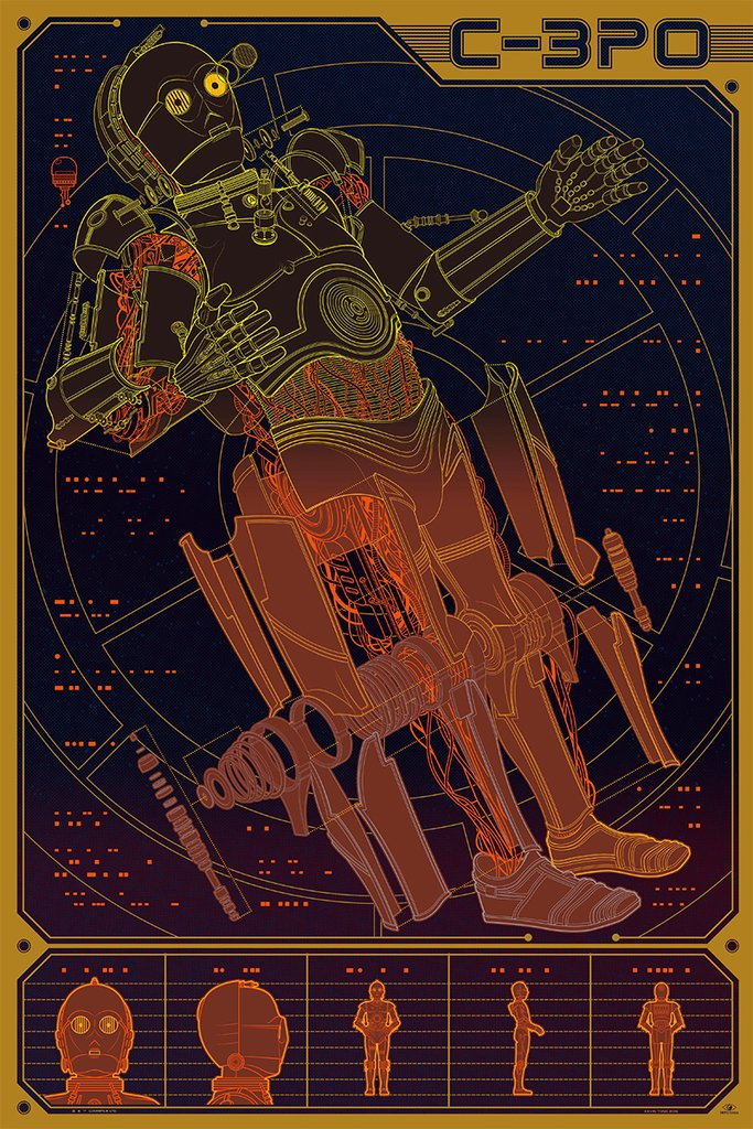 C-3PO by Kevin Tong