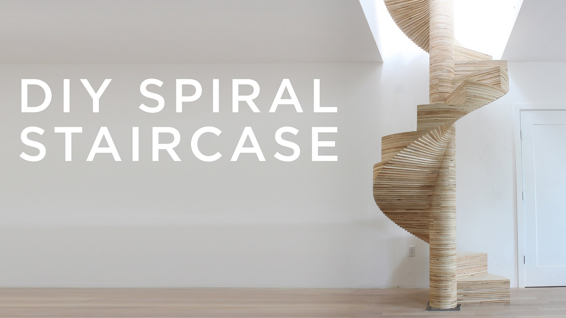 A diy spiral staircase created by layering cnc cut pieces for Build your own spiral staircase