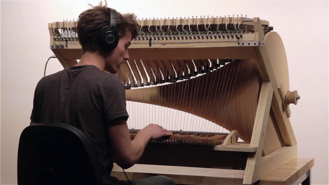 A Remarkable Wooden Organ Built Around Stepper Motors to Create a Unique Synthesized Sound