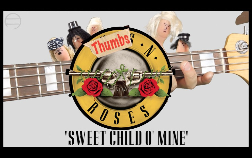 A Thumb-Sized Version of Guns N' Roses Play a Four-Track Cover of Sweet Child O' Mine