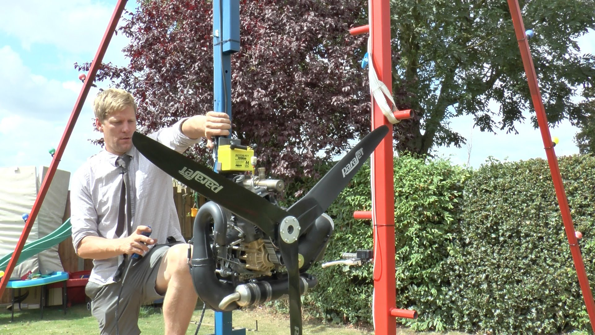 colin furze adds a paramotor to his enormous backyard 360