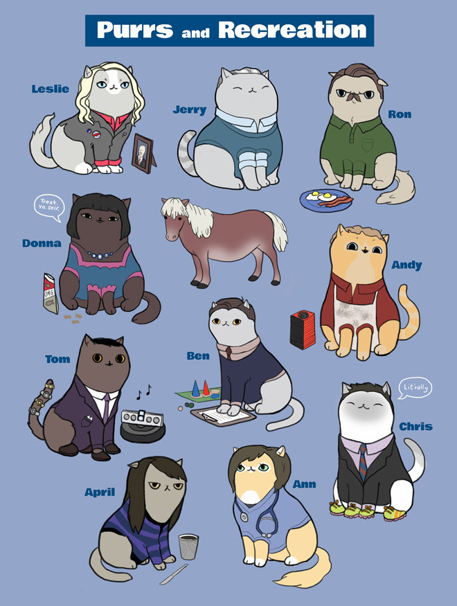 Parks and Recreation Cats