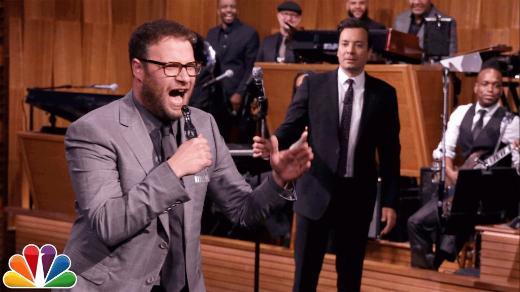 Jimmy Fallon & Seth Rogen Lip Sync Battle to The Roots' 'Mellow My Man' & Drake's 'Hotline Bling'