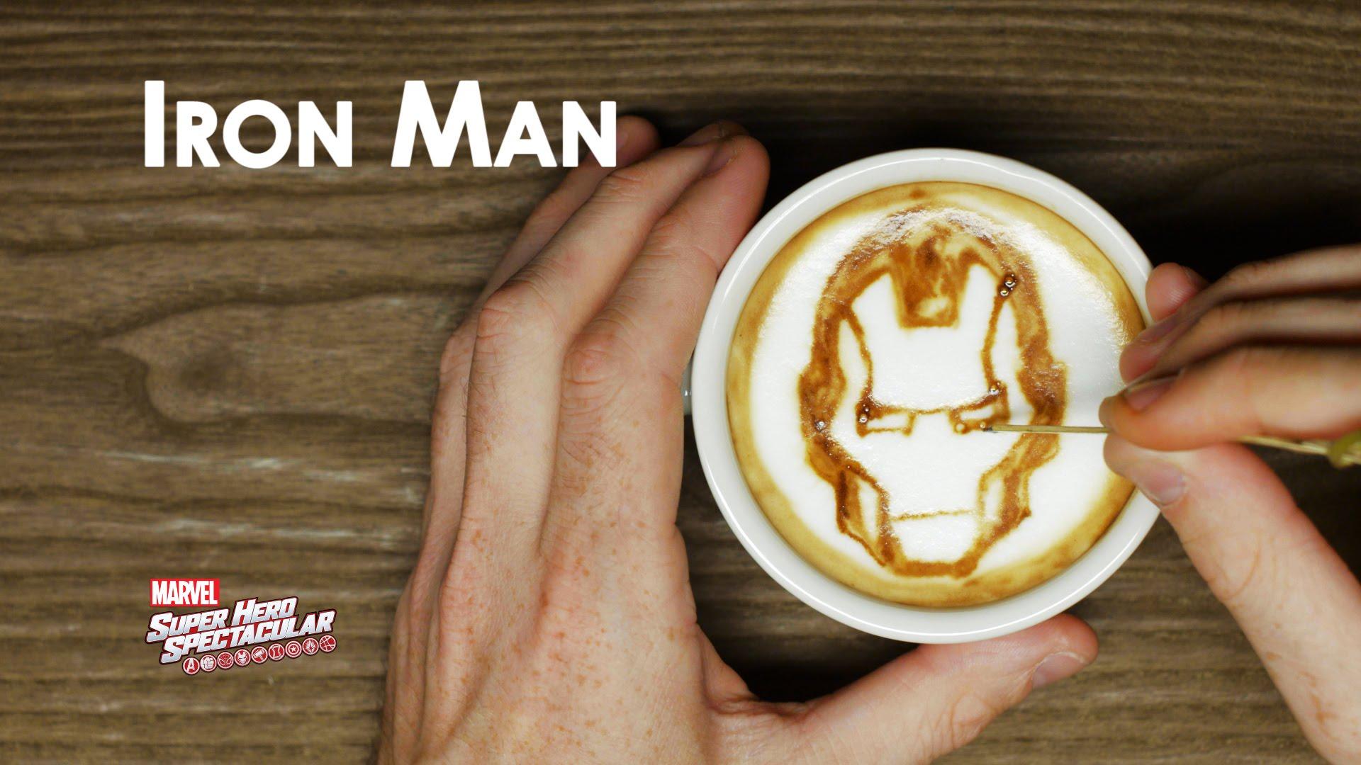 Marvel Comic Book Superhero Latte Art